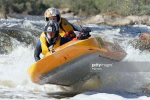 PERTH, AUSTRALIA - AUGUST 07:  Jay Branson and Matt Branson #144 tackle Bells Rapids during the 2005 Multiplex Avon Descent on August 07, 2005 near Perth, Australia. The Avon Descent is a 2 day time trial over 133 km's for paddle and power craft, ranging from flat water to white water rapids.  (Photo by Paul Kane/Getty Images) *** Local Caption *** Jay Branson;Matt Branson