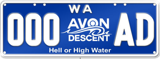 Avon Descent Number Plates - Avon Descent™ Hell or High Water