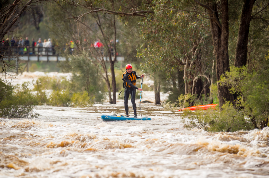 Stand-up paddleboarder makes Avon Descent history